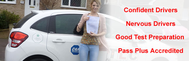 Confident and nervouspupils welcome, Pass Plus licensed: image shows Bury St Edmunds pupil who passed with TLC Driving School