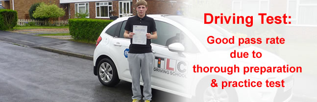 Bury St Edmunds pupil who passed his test with TLC Driving School