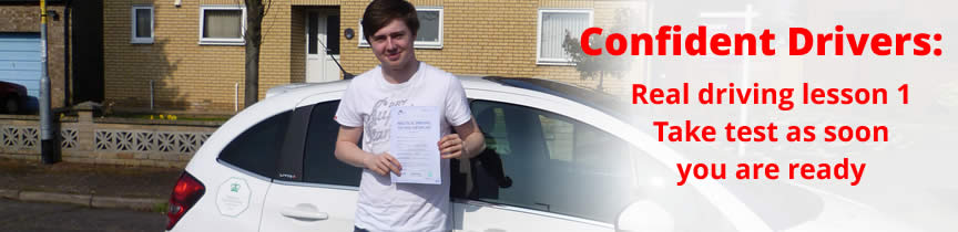 Confident Thetford pupil passed test