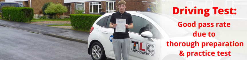Pupil who passed his test with TLC Driving School